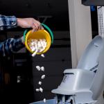 water softener - salt delivery - pour bucket