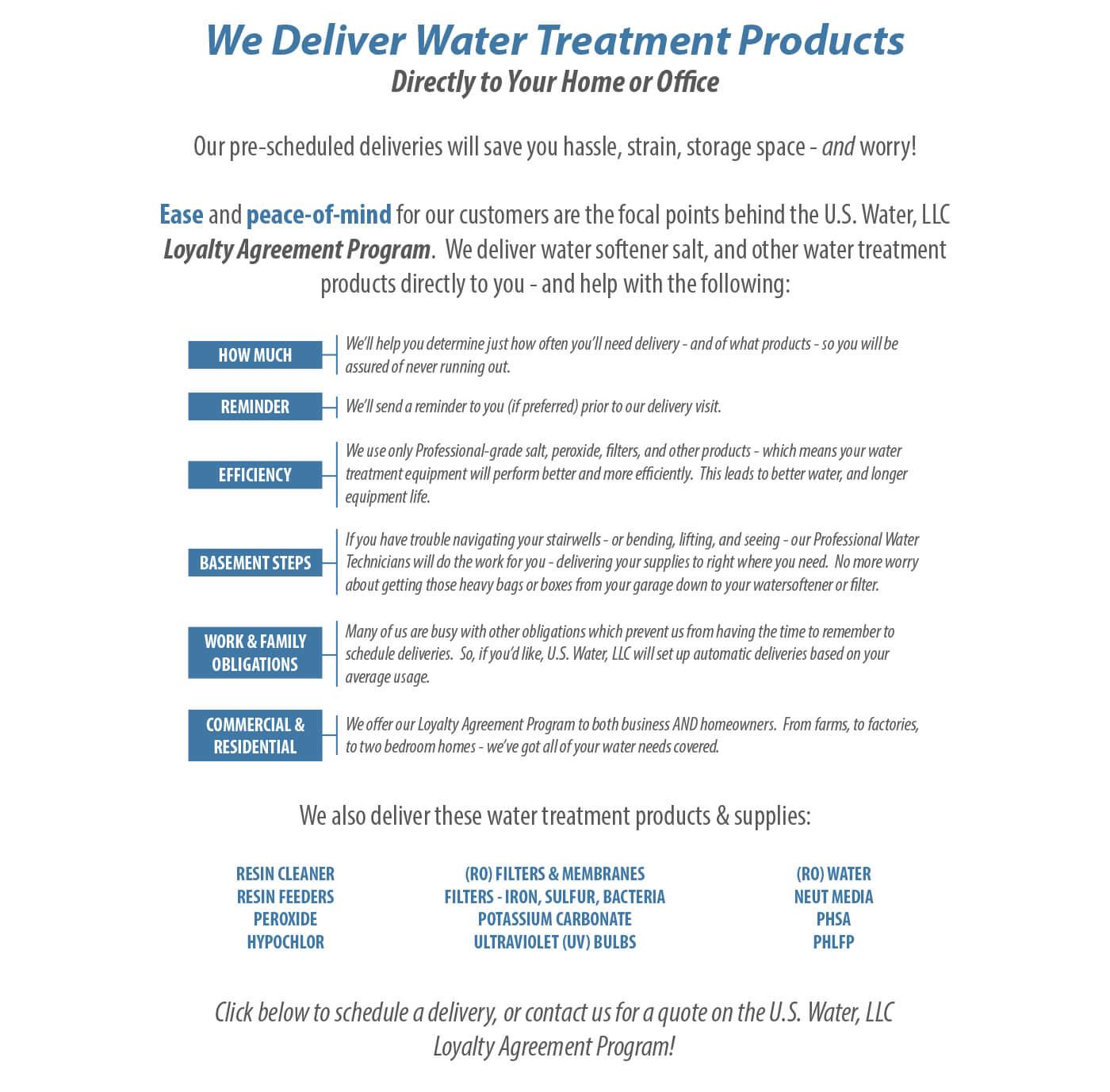 Water Softener Salt Delivery Us Water Llc