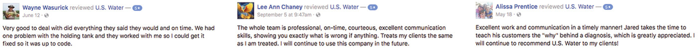 U.S. Water, LLC Facebook