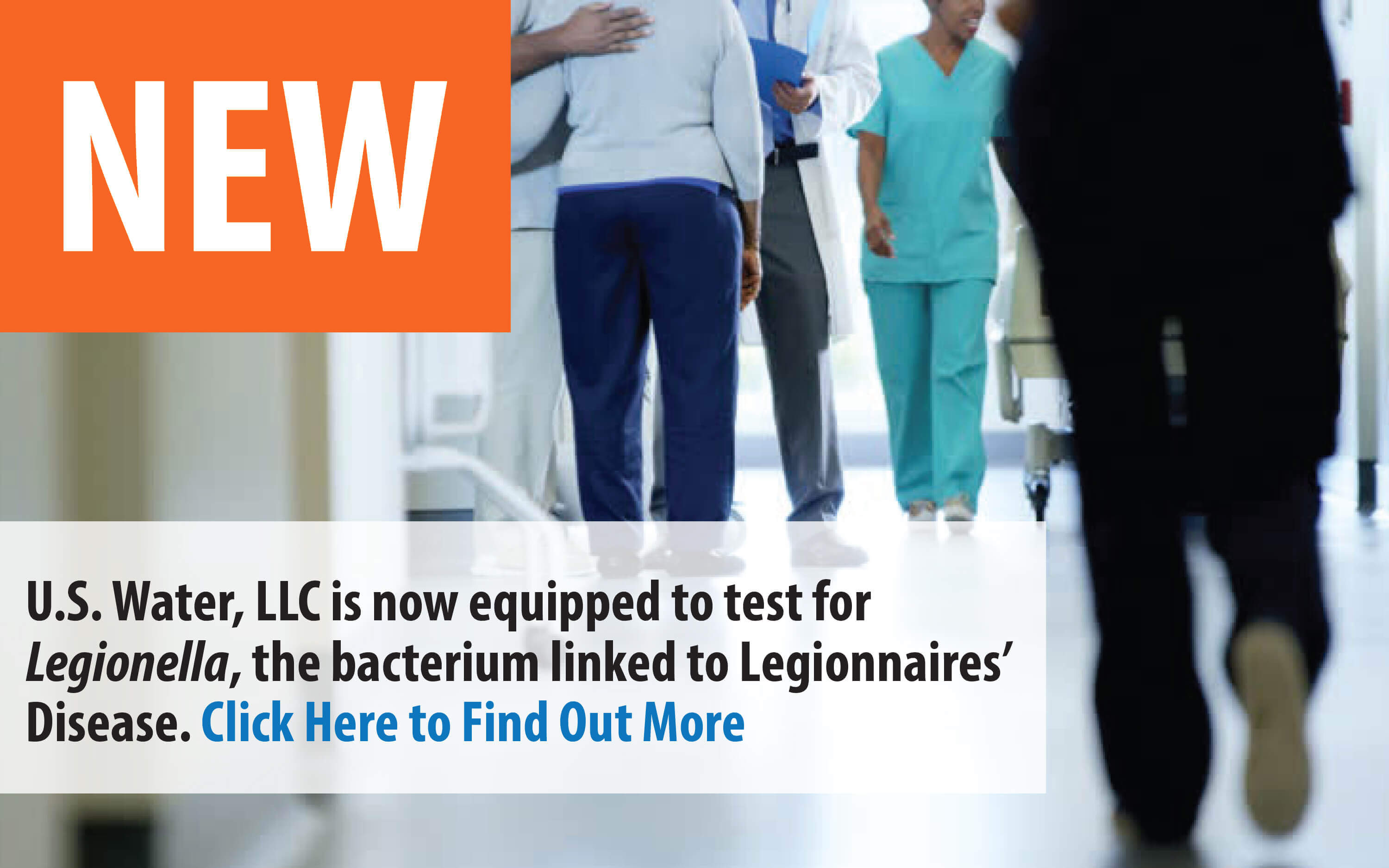 U.S. Water, LLC is now equipped to test for Legionella bacteria