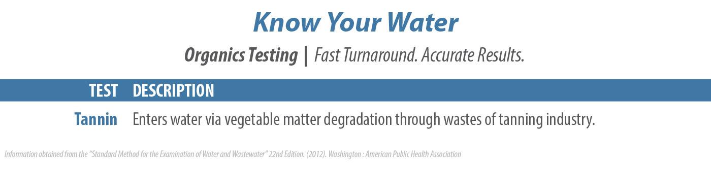 U.S. Water, LLC Organic Water Testing