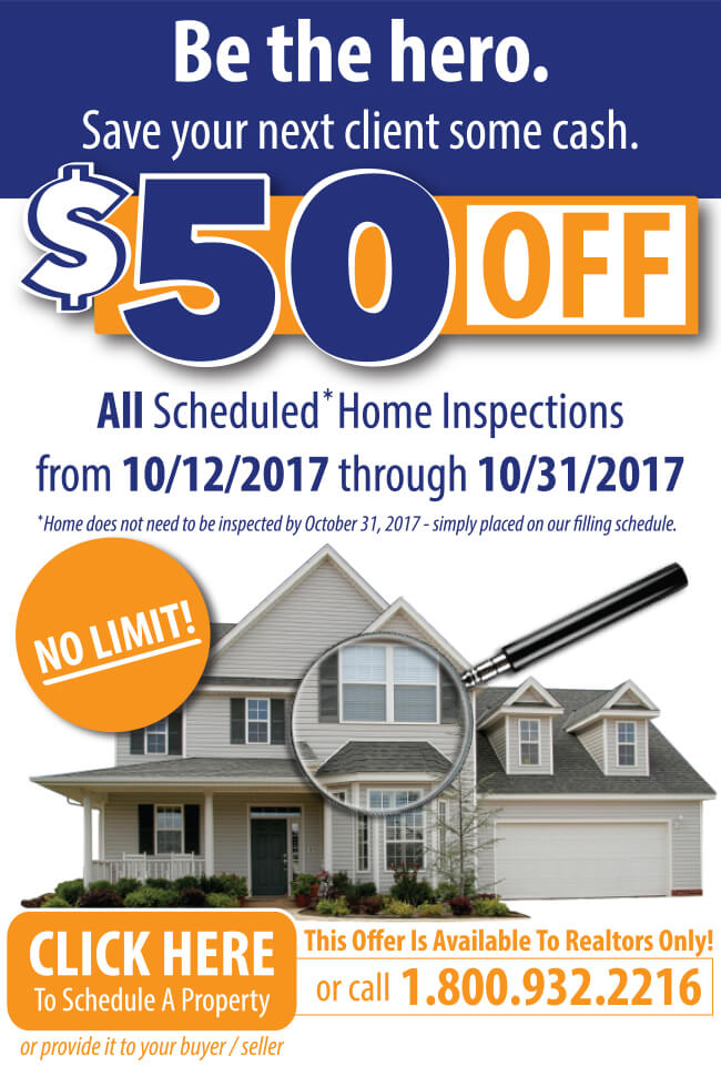 $50 Home Inspection Promotion